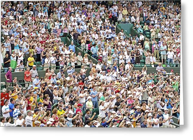 Wimbledon Greeting Cards - Crowd Of People Greeting Card by Carlos Dominguez