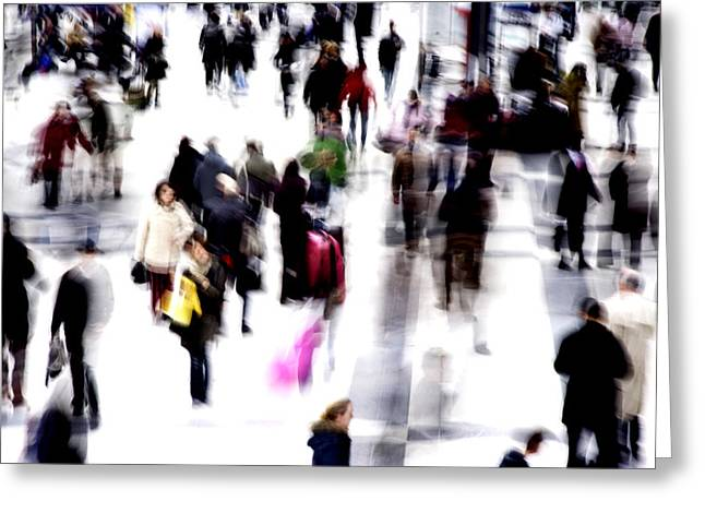 Many People Greeting Cards - Crowd Of People Greeting Card by Cordelia Molloy