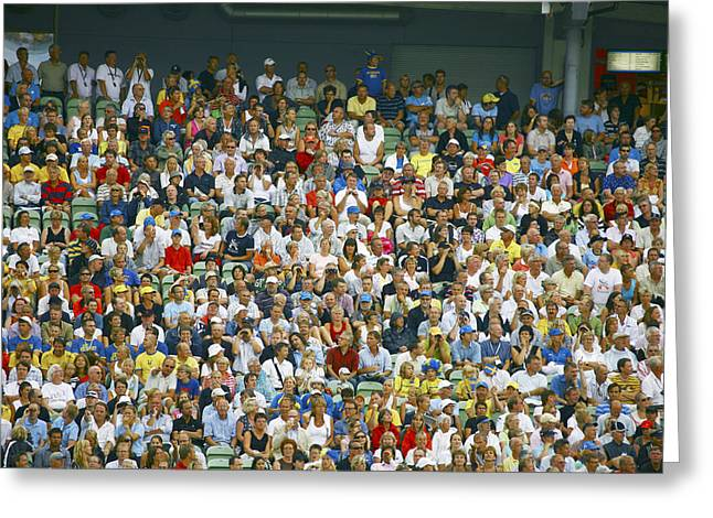 Many People Greeting Cards - Crowd Of Spectators Greeting Card by Bjorn Svensson