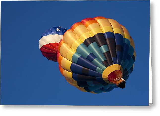 Hot Air Balloon Photographs Greeting Cards - Crowded Pattern Greeting Card by Mike  Dawson