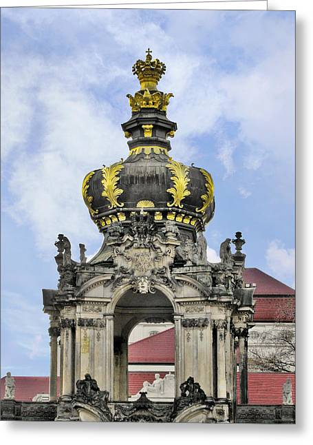 Recently Sold -  - Polish Culture Greeting Cards - Crown Gate - Kronentor Zwinger Palace Dresden Greeting Card by Christine Till