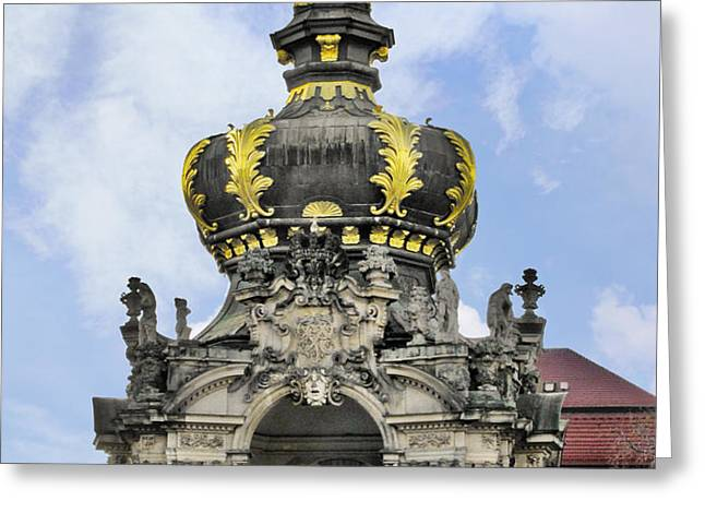 Crown Gate - Kronentor Zwinger Palace Dresden Greeting Card by Christine Till