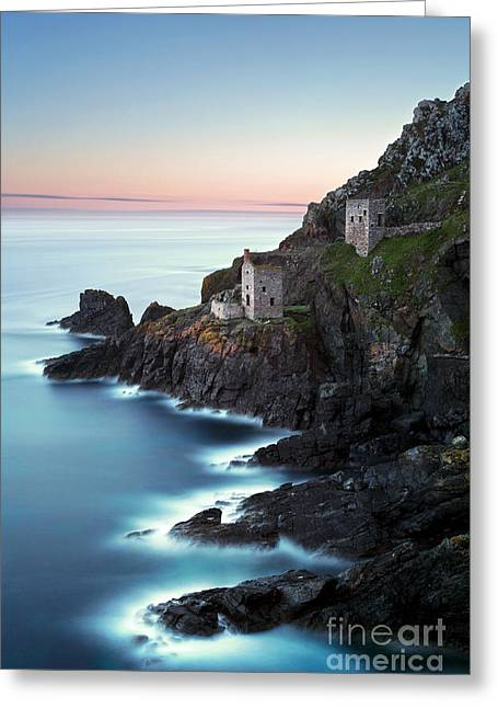 Engine House Greeting Cards - Crown mines long exposure Greeting Card by Richard Thomas