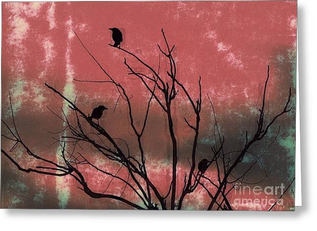 Crows The Watcher Greeting Card by Sacred  Muse