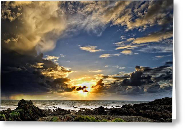 Croyde Greeting Cards - Croyde Sunset Greeting Card by Dave Wilkinson