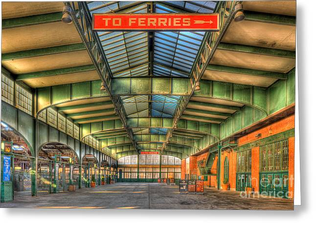 Concourse Greeting Cards - CRRNJ Terminal I Greeting Card by Clarence Holmes