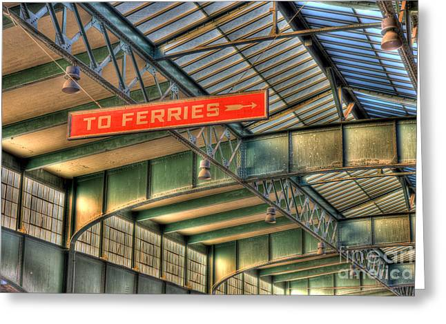 Empty Inside Greeting Cards - CRRNJ Terminal IV Greeting Card by Clarence Holmes