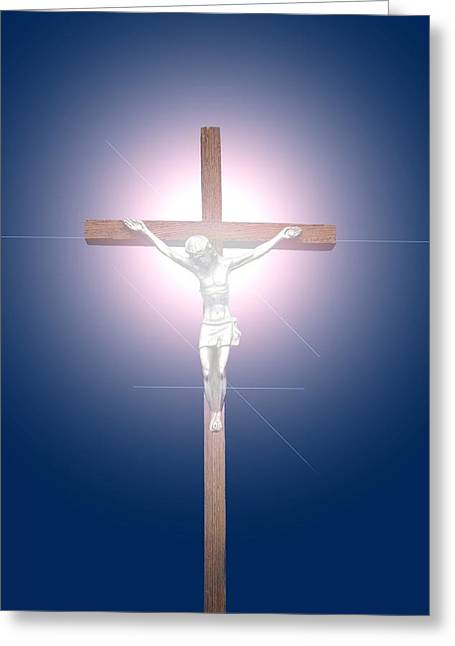 Belief Systems Greeting Cards - Crucifix Greeting Card by John Short
