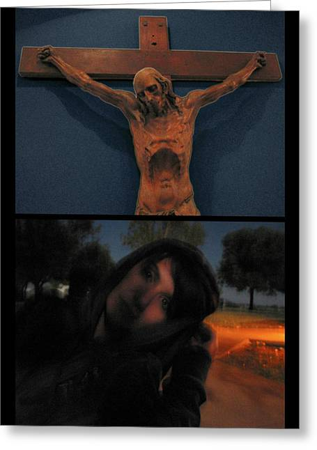 Crucifixion Greeting Cards - Crucifixion Greeting Card by James W Johnson