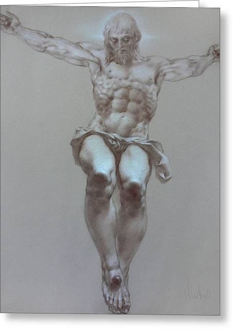 Valeriy Mavlo Greeting Cards - Crucifixion Greeting Card by Valeriy Mavlo