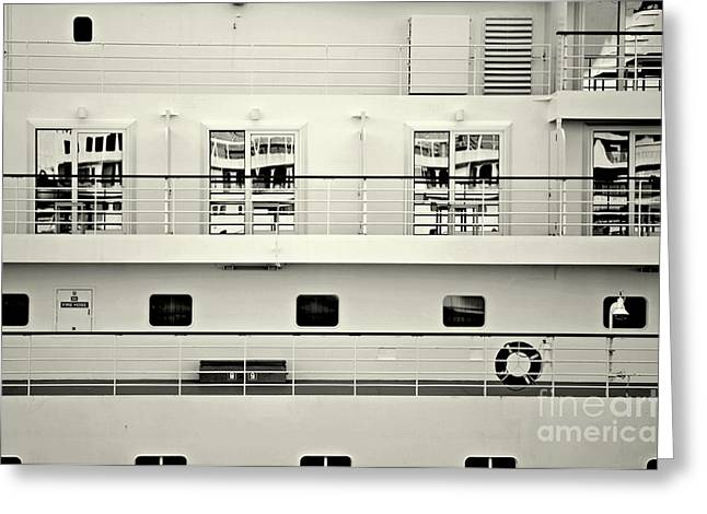 Cruise Terminal Greeting Cards - Cruise Reflections Greeting Card by Dean Harte
