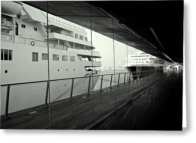 Cruise Ships Greeting Card by Dean Harte