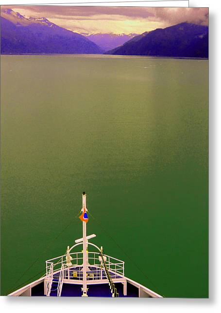 Ocean Art Photography Paintings Greeting Cards - Cruise to the Sun Greeting Card by Mindy Newman