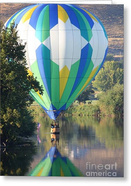 Yakima Valley Greeting Cards - Cruising the River Greeting Card by Carol Groenen