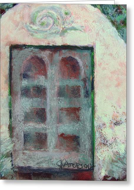 Entryway Pastels Greeting Cards - Crumbling Wall Greeting Card by Julia Patterson