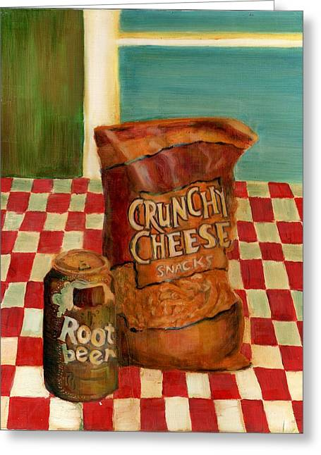 Table Cloth Greeting Cards - Crunchy Cheese - Summer Greeting Card by Thomas Weeks