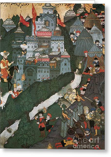 Large Scale Photographs Greeting Cards - Crusade Of Nicopolis, 1396 Greeting Card by Photo Researchers