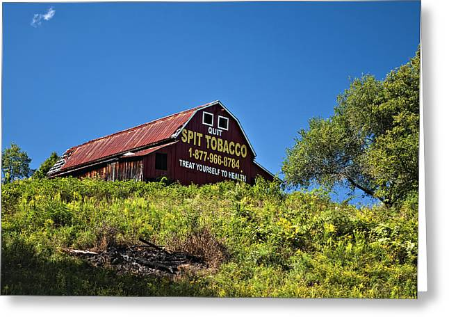 Chewing Tobacco Greeting Cards - Crusading Barn Greeting Card by Steve Harrington
