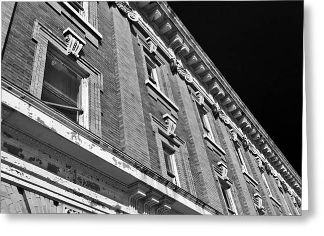 Crusty Architecture Greeting Card by Patrick M Lynch