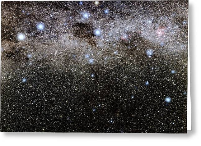 Crux And The Southern Celestial Pole Greeting Card by Eckhard Slawik