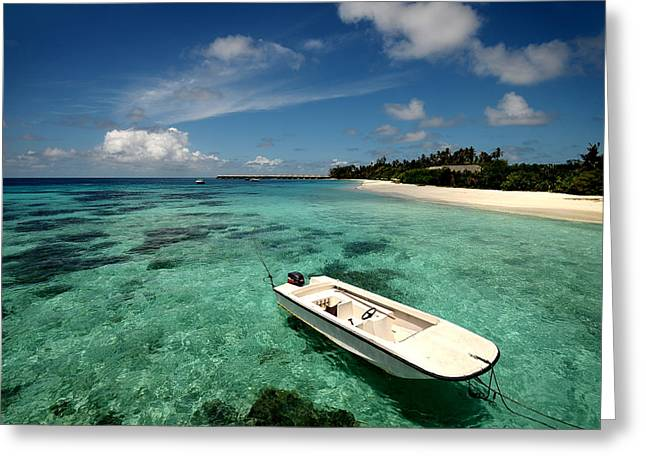 Leasure Greeting Cards - Crystal Clarity. Maldives Greeting Card by Jenny Rainbow