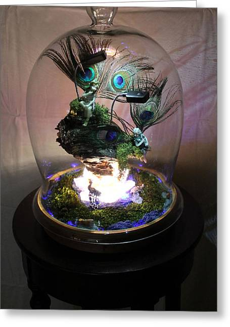 Peaceful Sculptures Greeting Cards - Crystal Garden Greeting Card by Jane Whyte