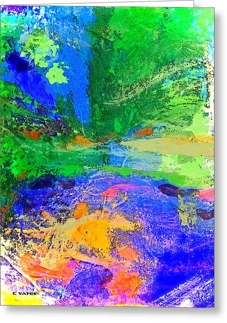 Palette Knife And Brush Greeting Cards - Crystal Glimmer Greeting Card by Charles Yates