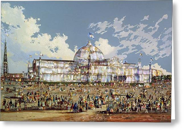 Glass Oil Dome Greeting Cards - Crystal Palace New York Greeting Card by WS Parkes