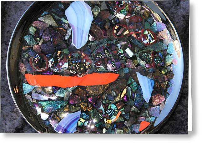 Dichroic Glass Greeting Cards - Crystal Pond 1 Greeting Card by Thomas Mogensen