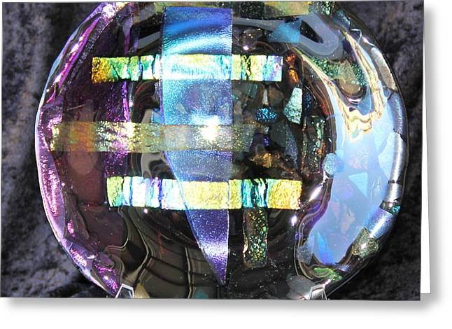 Dichroic Glass Greeting Cards - Crystal Praise 1 Greeting Card by Thomas Mogensen