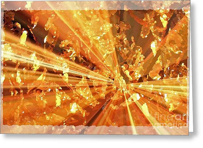 Crystallized - Digital Art Abstract Greeting Card by Carol Groenen