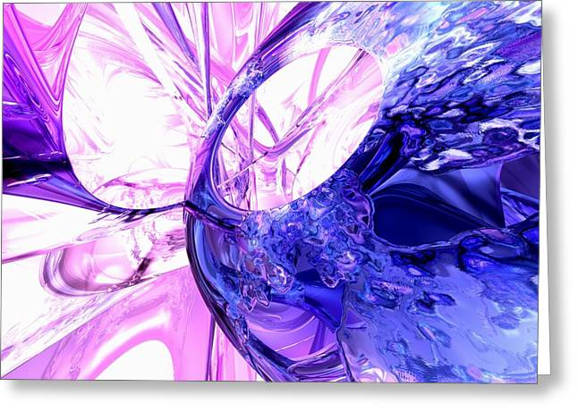 Purple Grapes Greeting Cards - Crystallized Abstract Greeting Card by Alexander Butler