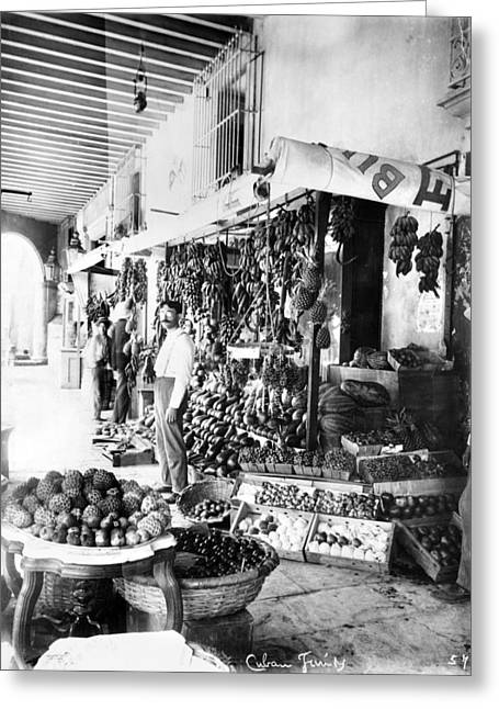 Melon Greeting Cards - CUBA FRUIT VENDOR c1910 Greeting Card by Granger