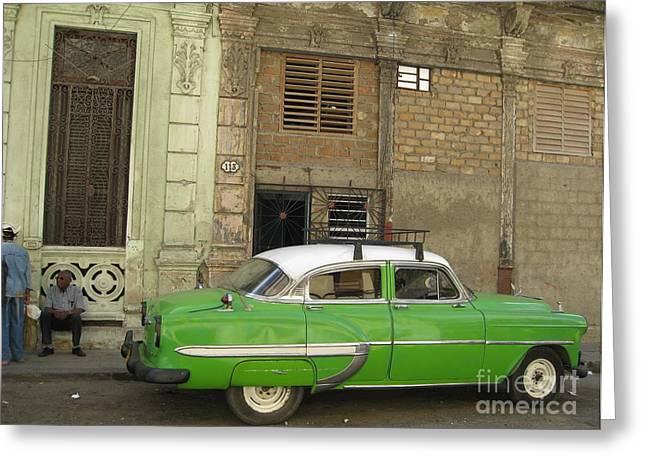 Cuba Greeting Cards - Cuba Green Greeting Card by Stav Stavit Zagron