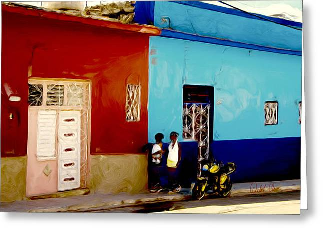 Matanzas Greeting Cards - Cuban lifestyle Greeting Card by Detlef Klahm