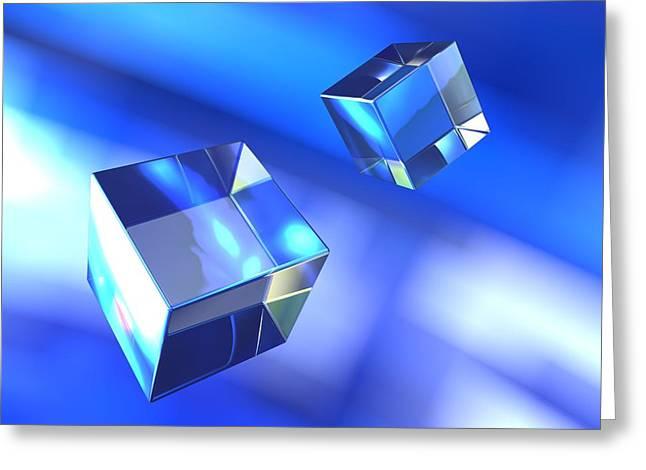 Geometric Artwork Greeting Cards - Cubes, Computer Artwork Greeting Card by Pasieka
