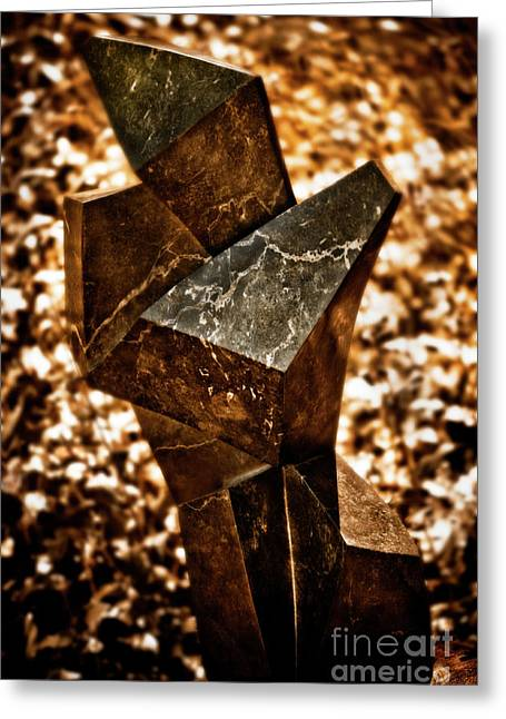 Zimbabwe Greeting Cards - Cubic Greeting Card by Venetta Archer