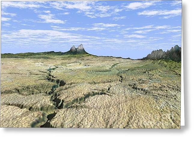 Spanish Peaks Greeting Cards - Cucharas River Canyon Greeting Card by NASA / Science Source