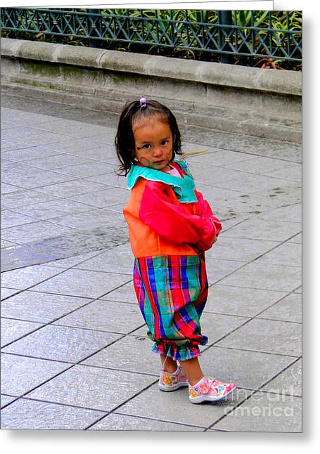 Toddler Girl Greeting Cards - Cuenca Kids 112 Greeting Card by Al Bourassa