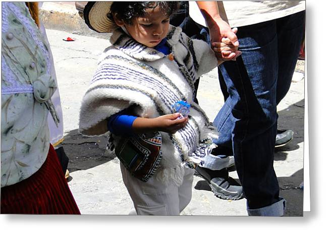Cuenca Kids 130 Greeting Card by Al Bourassa