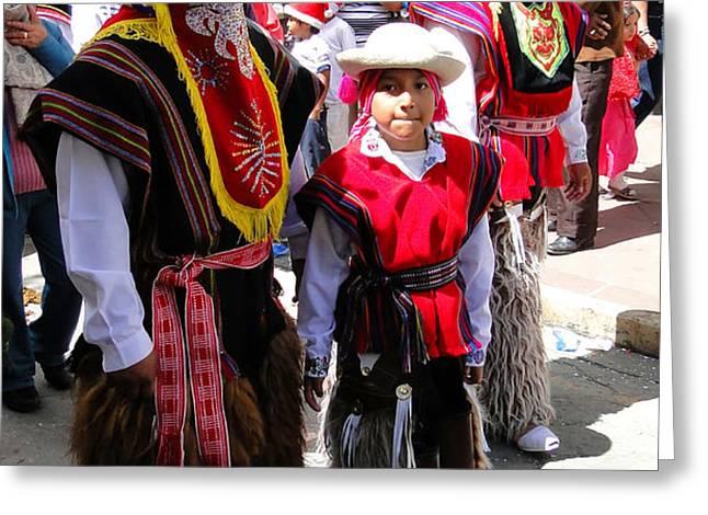 Cuenca Kids 156 Greeting Card by Al Bourassa