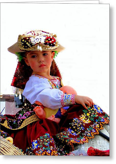 Christmas Eve Greeting Cards - Cuenca Kids 193 Greeting Card by Al Bourassa