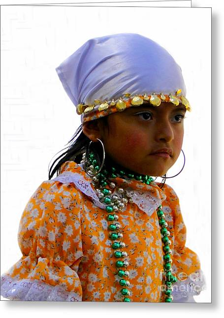 Special Necklace Greeting Cards - Cuenca Kids 199 Greeting Card by Al Bourassa