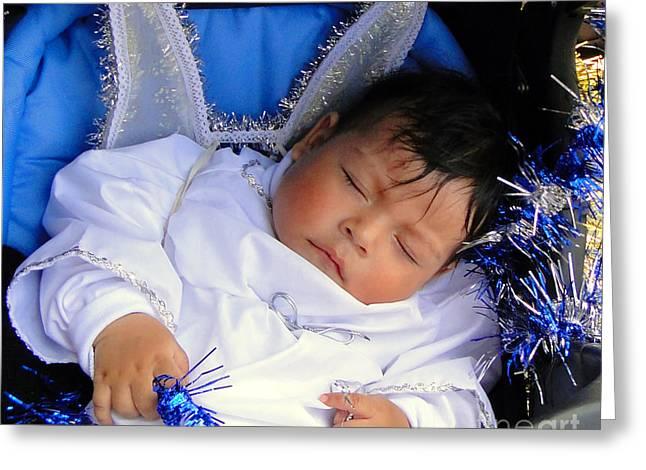 Baby Jesus Greeting Cards - Cuenca Kids 201 Greeting Card by Al Bourassa