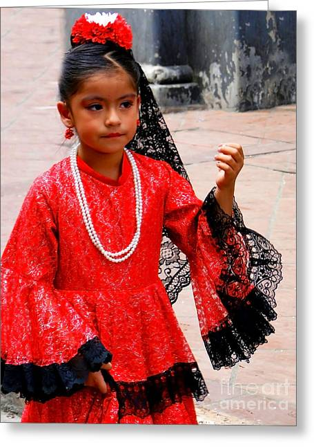 Special Necklace Greeting Cards - Cuenca Kids 209 Greeting Card by Al Bourassa