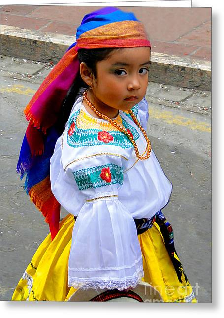 Christmas Eve Greeting Cards - Cuenca Kids 210 Greeting Card by Al Bourassa