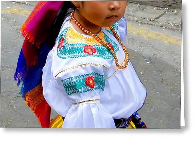 Cuenca Kids 210 Greeting Card by Al Bourassa