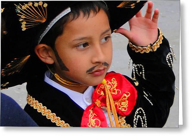 Cuenca Kids 28 Greeting Card by Al Bourassa