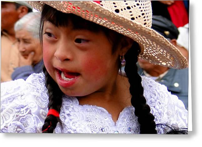 Cuenca Kids 43 Greeting Card by Al Bourassa