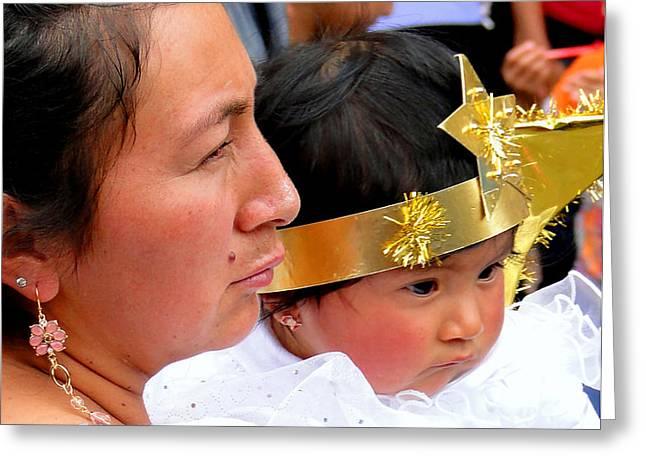 Cuenca Kids 44 Greeting Card by Al Bourassa